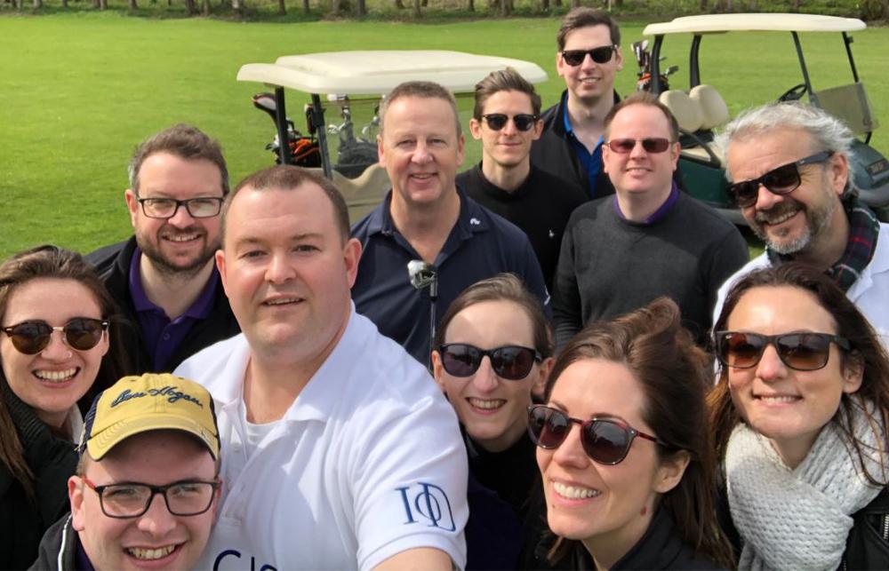 Selfie on golf course