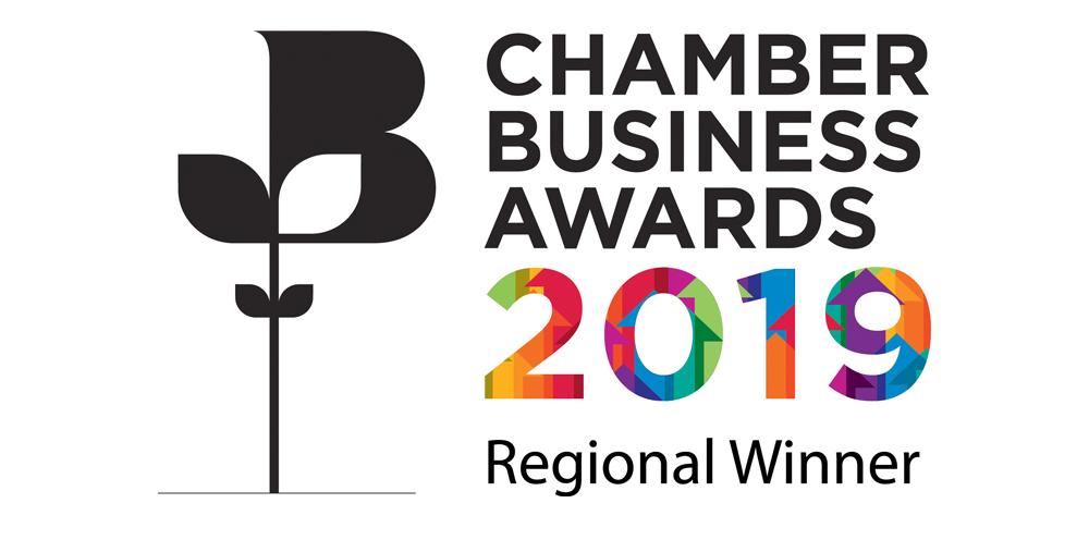 Chamber Business Awards logo winner 2019
