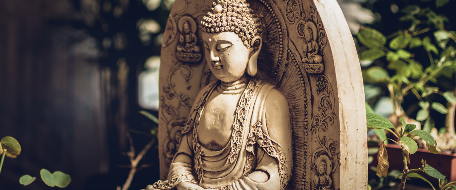 Gautama statue in garden